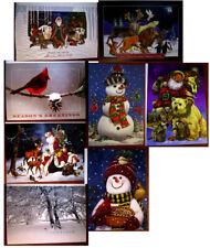 (8) Assorted Unused National Wildlife Federation Christmas Cards Santa Snowmen +