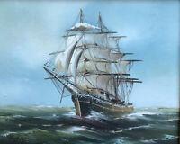 ZWPT1213 painted handmade big sail boast ocean wave oil painting art on Canvas