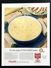 1955 Vintage Print Ad 50's CAMPBELL'S Cream Of Chicken Soup Image
