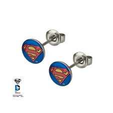 Officially Licensed DC Comics Superman S Symbol Stud Earrings NEW