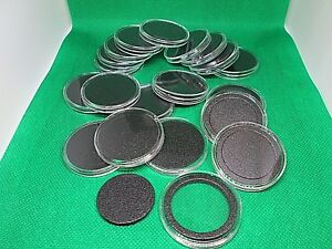 20 Genuine Airtite Coin Holder Capsules with black ring for (32mm) Rounds/Coins