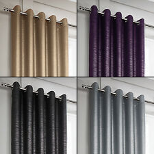 Glitter Glamour Sparkle Pair Fully Lined Eyelet Ring Top Curtains 4 Colours