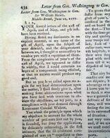 SIEGE OF FORT TICONDEROGA & George Washington 1777 Revolutionary War Magazine