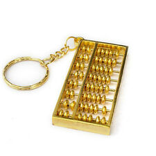Novelty 1Pcs Golden Plated Traditional Calculator Abacus Keychain Keyring Decor