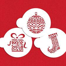 Designer Stencils C954 Modern Christmas Cookie Stencil Set