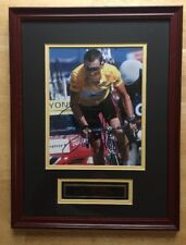 LANCE ARMSTRONG Signed Tour De France Picture In Frame With COA