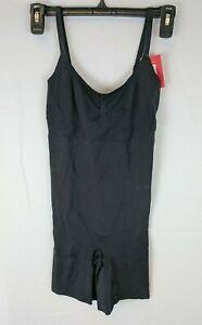 Spanx Oncore Mid-Thigh Bodysuit, Very Black, Women's Medium
