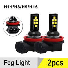 2PCS H11 LED Fog Light Bulbs Driving Lamp 6000K White Xenon High Power H8 H9 H16