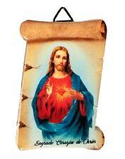 """3"""" Inch Sagrado Corazon de Jesus Religious wall and table plaque  plate virgin"""
