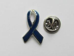 12 Enamel NAVY BLUE AWARENESS RIBBON PINS colon cancer child abuse bullying