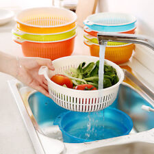 Plastic Vegetable Fruit Rice Wash Drain Strainer Colander Basket Kitchen Tools