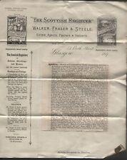 1893 DALQUHARRAN CASTLE IN AYRSHIRE, GLASGOW, SCOTTISH REGISTER ADVERT, 5PCs