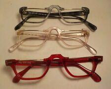 Vintage 3 Pc. May Usa Bar 1/2 Eye Lot Eyeglass Frame Lot New Old Stock #314