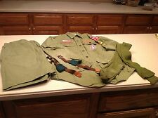 Vintage 1960's Boys Scouts Of America Uniform Patches Eagle Scout Green