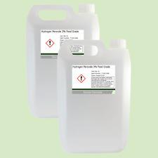 Peróxido de hidrógeno 3% de grado alimenticio BP H2O2 2 X 5L (10L)