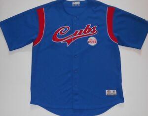 Chicago Cubs Baseball Blue Short Sleeve Jersey Shirt Mens Size 2XL 50-52
