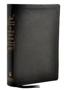 The Complete Jewish Study Bible-Black Genuine Calfskin Leather