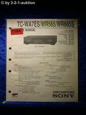 Sony Service Manual TC WR565 / WR665S / WA7ES Cassette Deck (#1164)