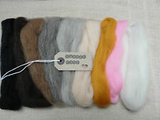 20g-9 colours for needle felting/felting wool tops/roving/spining/ weaving