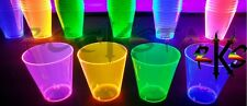(60) 1oz Neon Plastic Shot Glass Cups Blacklight Reactive Shooters -COMBINED S&H