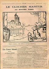 Humour Pâques Cloches Ruine Eglise Chat Chien Dogs Cat Benjamin Rabier WWI 1916