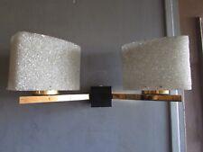EDIT LUNEL SUPERBE APPLIQUE DOUBLE DESIGN 50 LAITON & PERSPEX GRANITE WALL LAMP