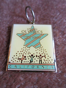 Special Olympics Key Ring Fob/Large Charm ONLY  California 1990 FREE SHIP