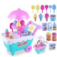 18pcsDIY  Kids Toy Simulation Mini Candy Ice Cream Trolley Shop Pretend Play Set