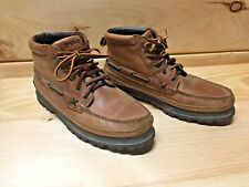 Ralph Lauren Polo Country Womens Brown Leather Lace Up Ankle Work Boots Sz 11B