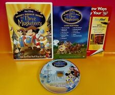 Disney The Three Musketeers DVD Movie Complete Mickey Donald Goofy Rare