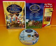 Disney The Three Musketeers DVD Movie Complete Mickey Donald Goofy Rare
