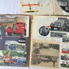 VTG 1950s Lot of 3 Children Scrap Books Car Trucks Mack Advertisement Cut Outs