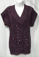 Mudd Size M Purple V-Neck Vest Tunic Sweater