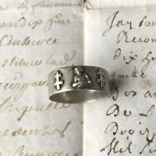 Bague Ancienne Argent Massif JEANNE D'ARC TDD 53 JOAN OF ARC Ring Solid Silver