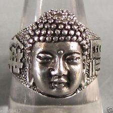 Stunning Tribal lucky Tibet Silver Buddha Blessing Unisex Ring