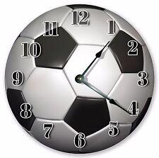 "10.5"" SOCCER BALL CLOCK - Large 10.5"" Wall Clock Home Décor Clock - 3159"