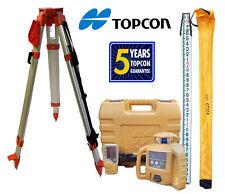 Topcon Rl-H5B Db Laser Level Plus Aluminum Tripod & 13 Ft Inches/Tenths Rod