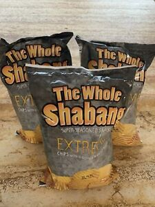 Lot of (3) bags of The Whole Shabang Chips Extreme Seasoned
