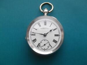 Solid Silver Waltham Pocket Watch Circa 1895
