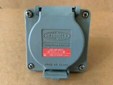 HUBBELL HBL2730SW Watertight Locking Receptacle, 30A 480V 3Phase, Gray