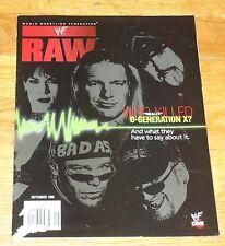 1999 WWF WWE Raw Wrestling Magazine D Generation X Triple H Mick Foley