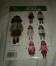 New Simplicity Holiday 0966 UNCUT Doll Clothes