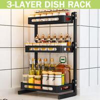 2/3 Tier Spice Rack Jars Bottle Holder Shelf Storage Organizer Steel Kitchen USA