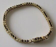 Secondhand 18ct yellow gold multi sapphire & diamond tennis bracelet (6 inches).