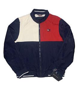 Tommy Hilfiger Mens Colorblock Windbreaker Jacket sz M Medium NWT MSRP $150