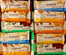 87 POWER CRUNCH PROTEIN SNACK TREAT ENERGY BAR NUTRITION BARS 5 Flavors FREE S/H