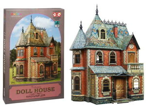Victorian Doll House 110 parts Model DIY 3D Puzzle High Simulation Model
