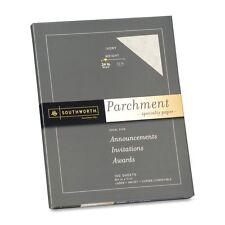 Southworth Colors + Textures Fine Parchment Paper, 24#, 8.5 x 11 Inches, Ivory,