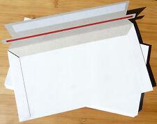 10 Pcs 130x240mm 300gsm Card DLX DL Envelope Envelopes Mailers Semi Rigid White
