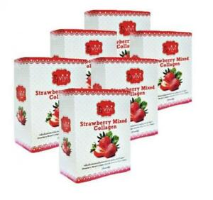 6X Vivi Plus Strawberry Drink with Collagen Combination of natural extracts
